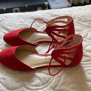 Like new sexy red sandals-9.5